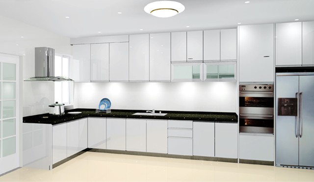 Sangat Kabinet Kitchen Design Moden Lagi2 Warna Putih Simple Je