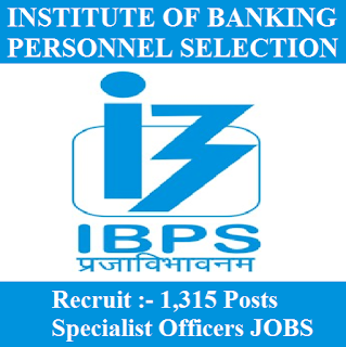 Institute of Banking Personnel Selection, IBPS, Specialist Officers, Graduation, freejobalert, Sarkari Naukri, Latest Jobs, Hot Jobs, ibps logo