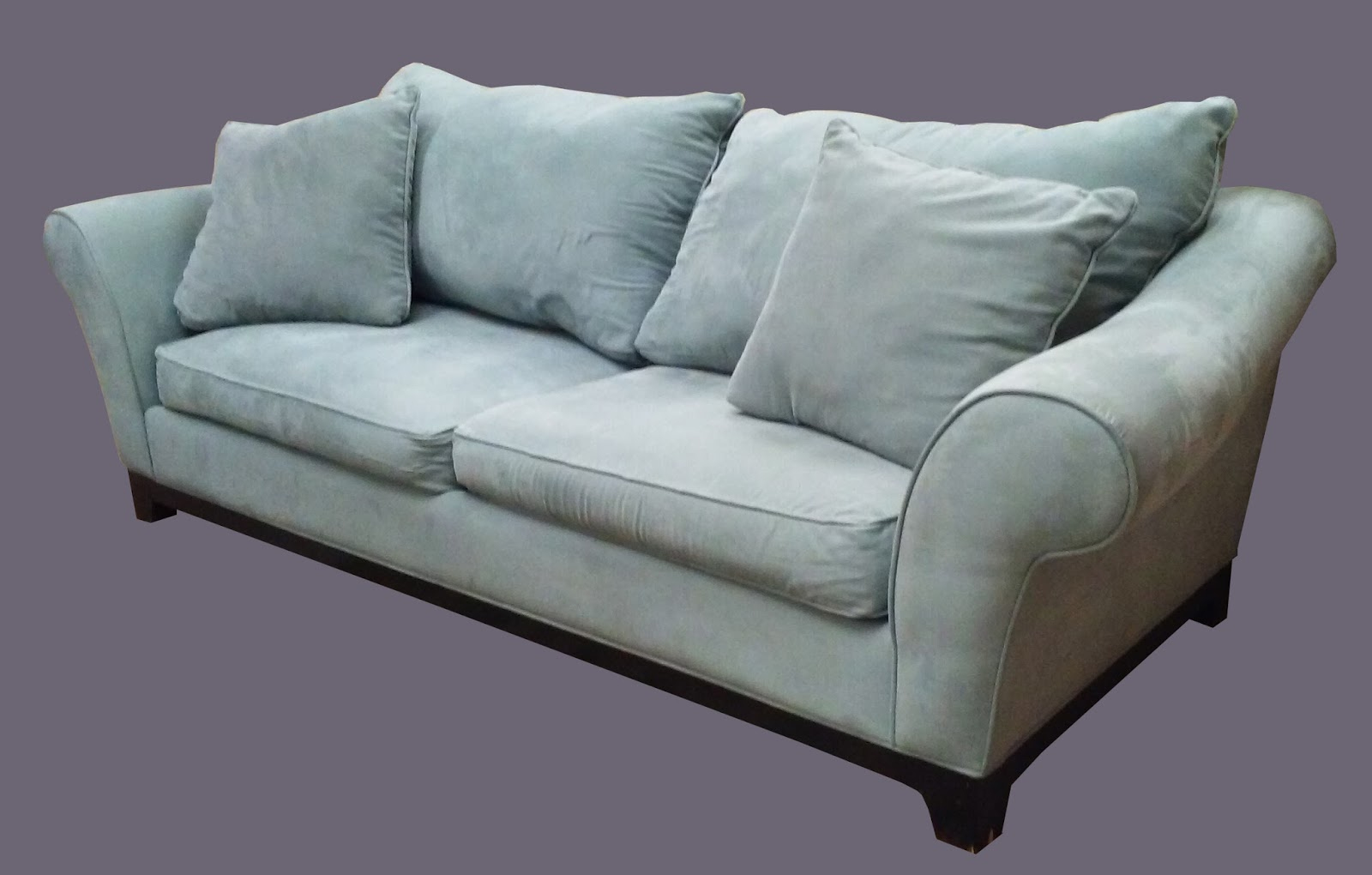 where to donate sectional sofa outdoor furniture uhuru & collectibles: baby blue microfiber ...