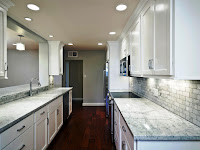 Majestic White Granite Kitchen Countertop and Matched Furniture