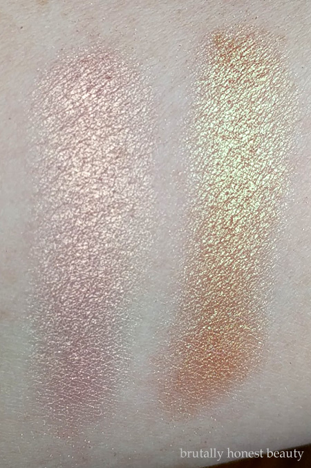 Swatches of Urban Decay X and Sideline
