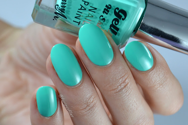 barry m green berry turquoise furious filer swatch