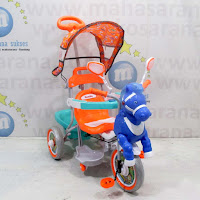 family kuda sepeda roda tiga anak