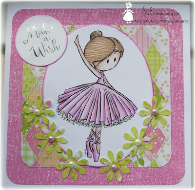 Ballerina digital stamp