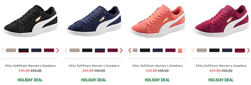 Puma Vikky SoftFoam Sneakers for only $35 (reg $55)