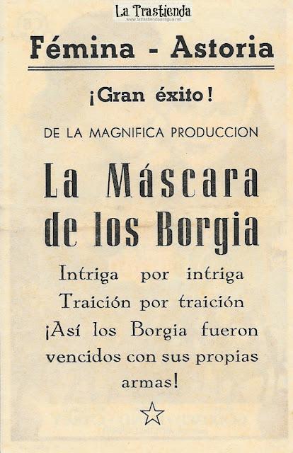 La Máscara de los Borgia - Programa de Cine - Paulette Goddard - John Lund