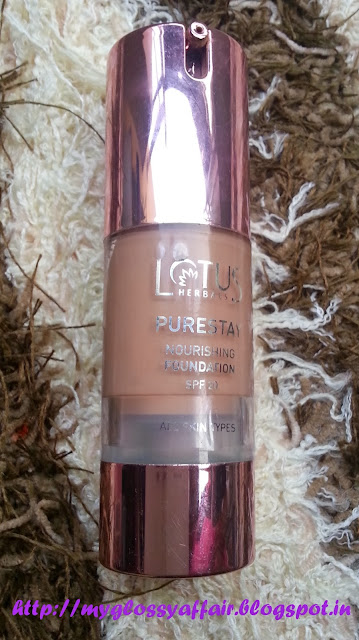 Lotus Herbals PureStay Foundation in Hazelnut Star - Review and Swatches