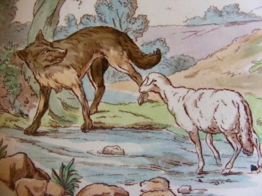 Lettres co trois reecritures des fables de la fontaine - Dessin loup et agneau ...