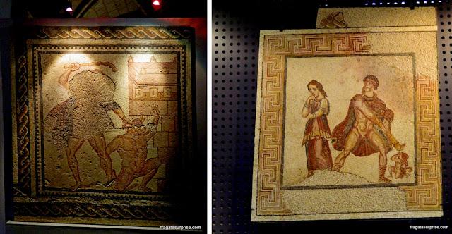 Mosaicos romanos encontrados em Portugal expostos no Museu de Arqueologia de Lisboa