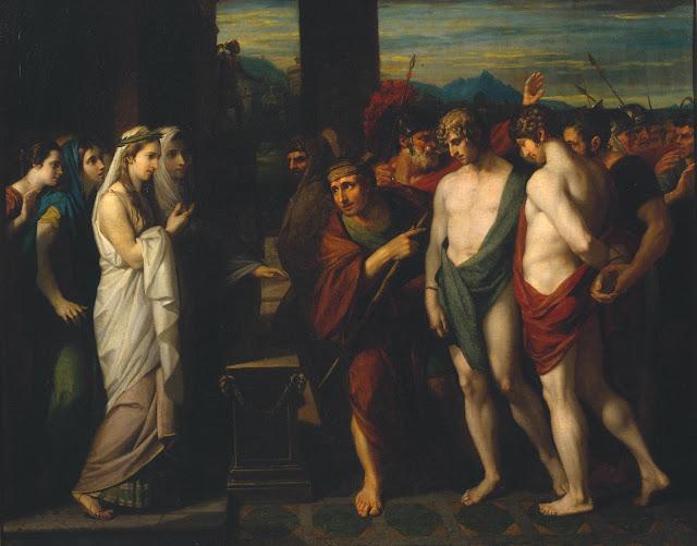 Benjamin West - Orestes y Pílades frente a Ifigenia - 1766