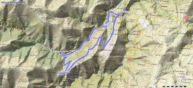 Mapa de la ruta de Pomar de las Montañas