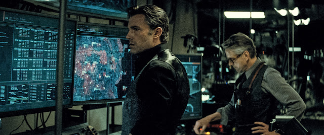 BATMAN V SUPERMAN: DAWN OF JUSTICE BEN AFFLECK as Bruce Wayne/Batman and JEREMY IRONS as Alfred