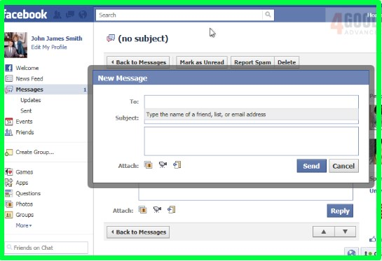 how to view messages on facebook by date