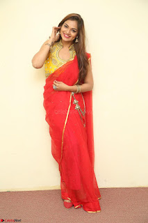 Actress Ashwini in Golden choli Red saree Spicy Pics ~  120.JPG