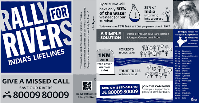 Rally for Rivers is a nationwide awareness campaign to revive our rivers - Save Our Rivers