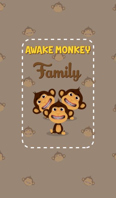 Awake Monkey Family