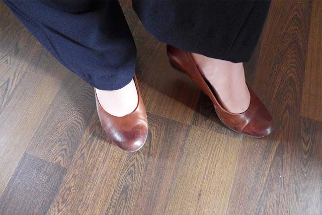 escarpins marron tamaris