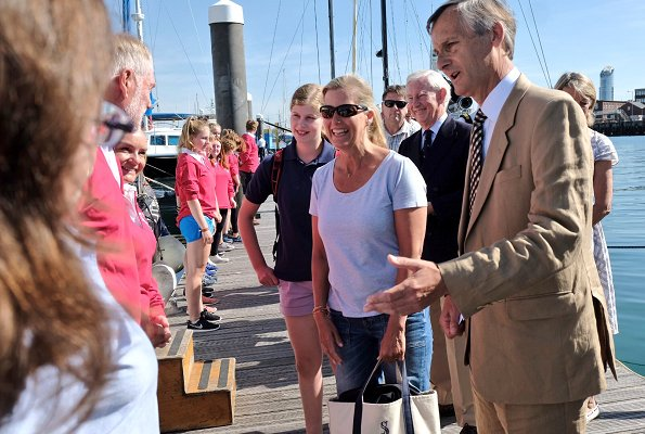 Sophie, Countess of Wessex and Lady Louise visited The Association of Sail Training Organisations at Haslar Marina in Gosport, Hampshire
