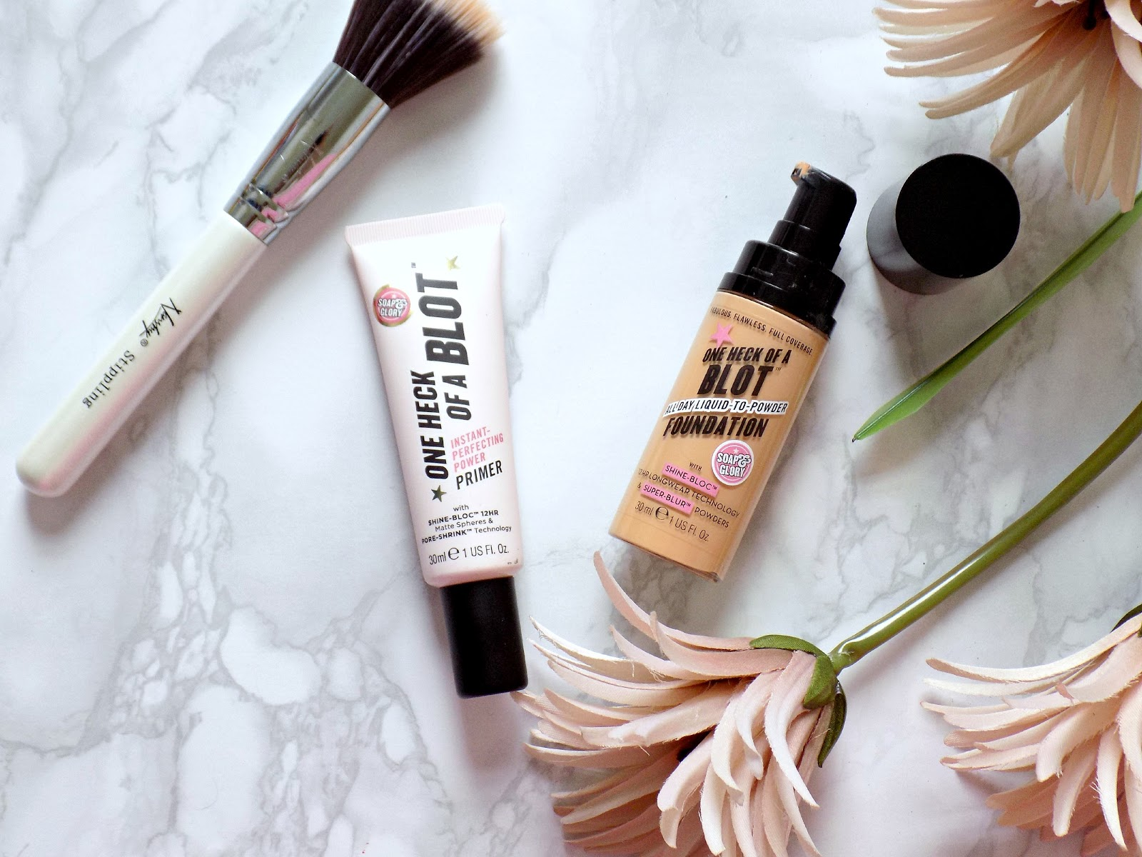 Soap & Glory One Heck of a Blot primer and foundation