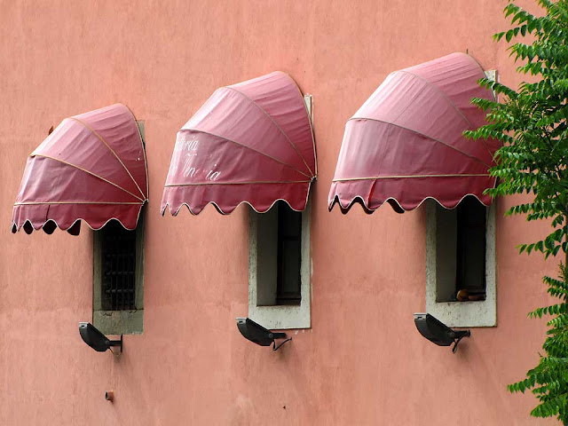 Window awnings, Venice quarter, Livorno