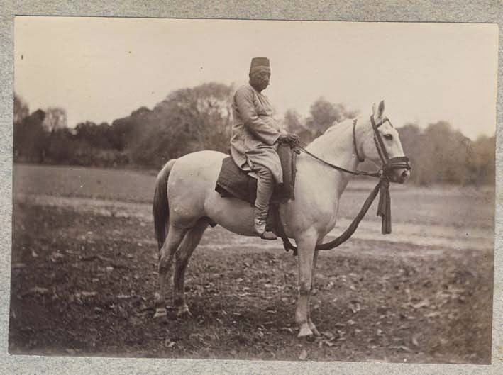 Indian Man on Horse - c1910's