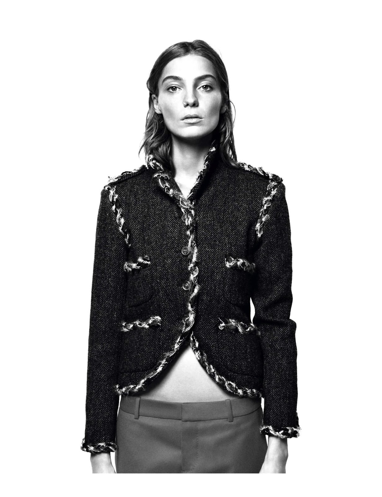 Daria Werbowy Shines On Fashion Canada S October 2013: Daria Werbowy By David Sims For Vogue Paris August 2013