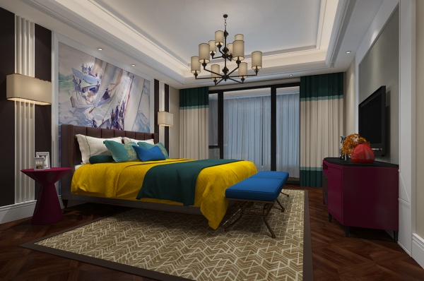 New Chinese bedroom model free 3ds max model