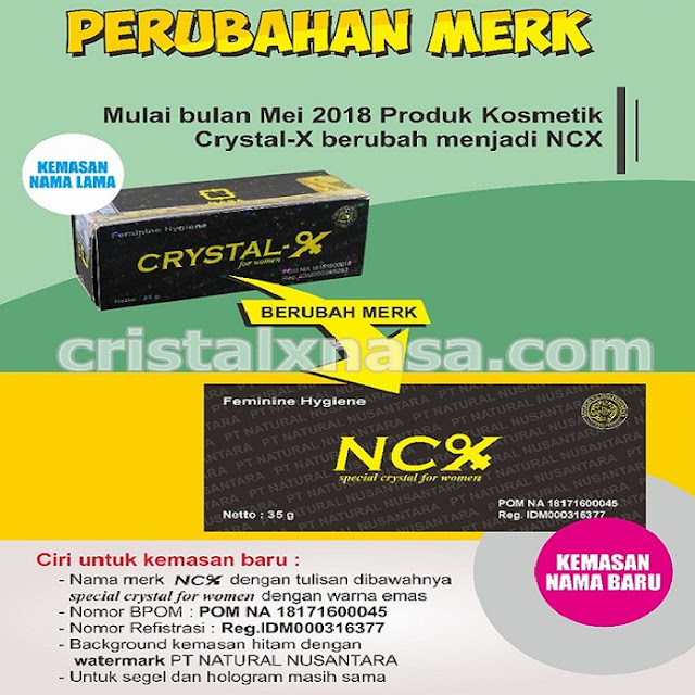 Pengumuman resmi NASA : Perubahan merek Cristal X menjadi NCX