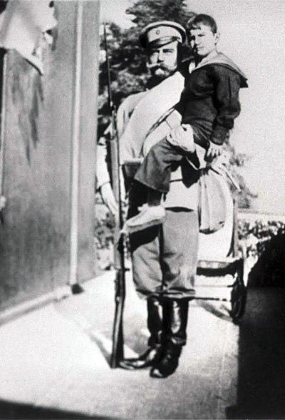 Император Николай II и Алексей.