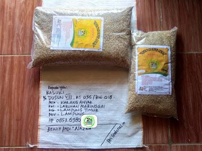 Benih Padi Pesanan    BASUKI Lampung Timur, Lampung.     Benih Sebelum di Packing.