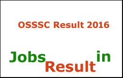 OSSSC Clerk/Steno Result 2016