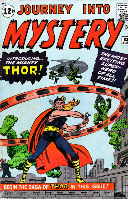 Journey into Mystery v1 #83, 1963 Marvel silver age comic book cover by Jack Kirby - Origin 1st appearance Thor