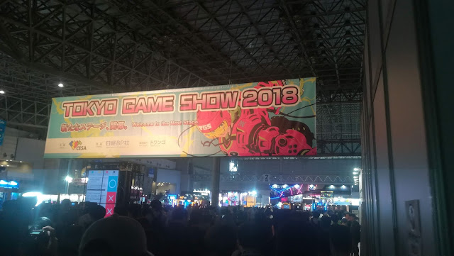 The sight that greets you at the entrance to the Tokyo Game Show.