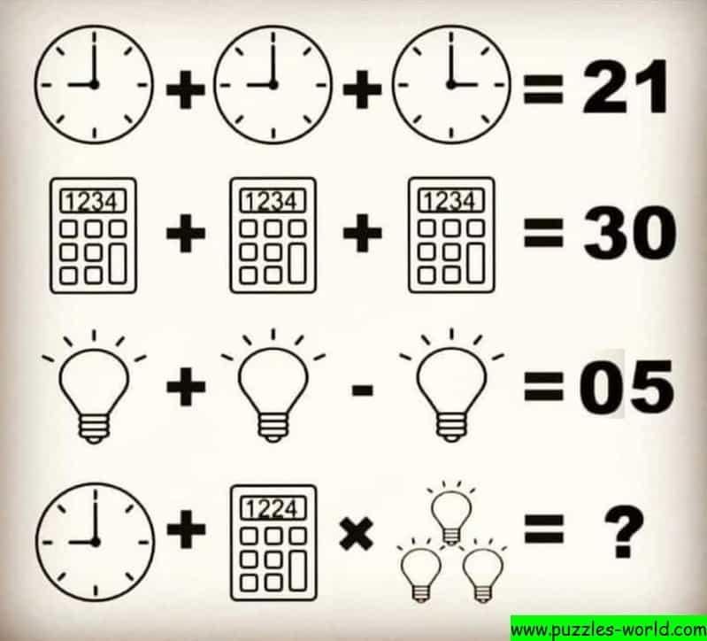 Clock Calculator Bulb Puzzle