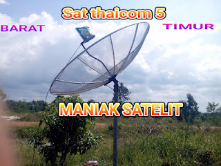 cara tracking satelit thaicom 5