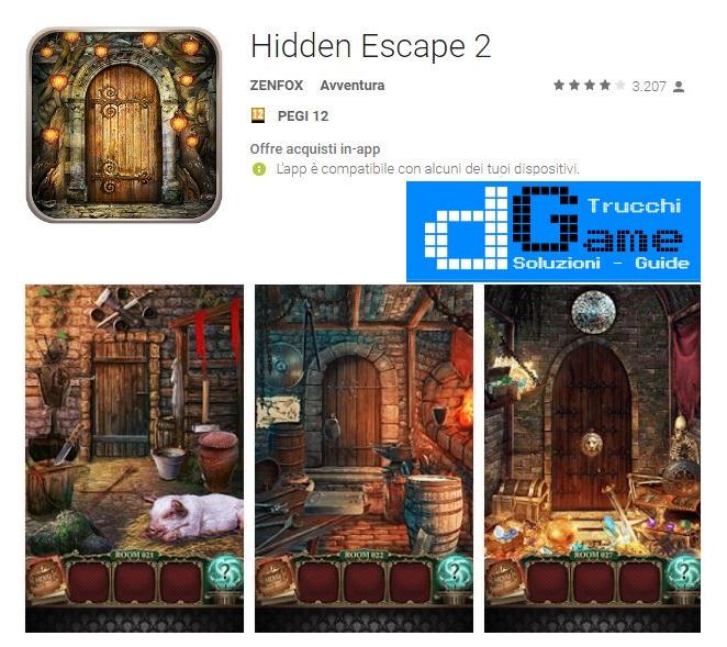 Soluzioni Hidden Escape 2 di tutti i livelli