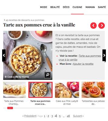 Cook A Life By Maeva Tarte Aux Pommes Crue A La Vanille