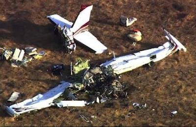 Picture of the plane crash from the scene. No survivors