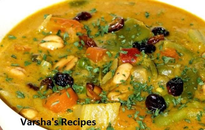 Varsha's Recipes: Navratan Korma Recipe