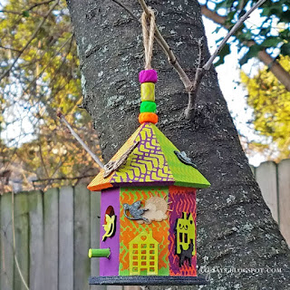 Cg Says Something Loudly Bright Birdhouse Paint Wood With The