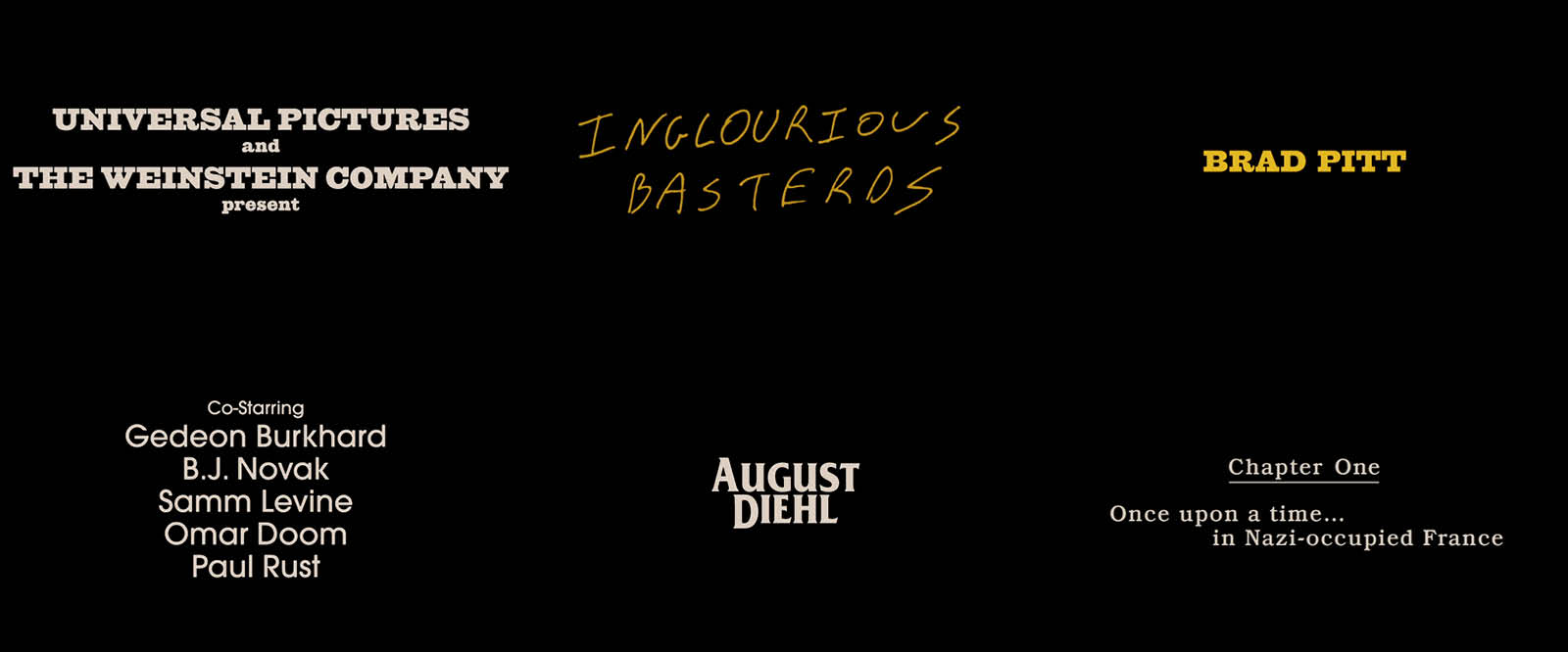 inglourious basterds soundtrack ending a relationship