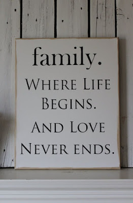 beautiful Quotes About Family: were life begins.