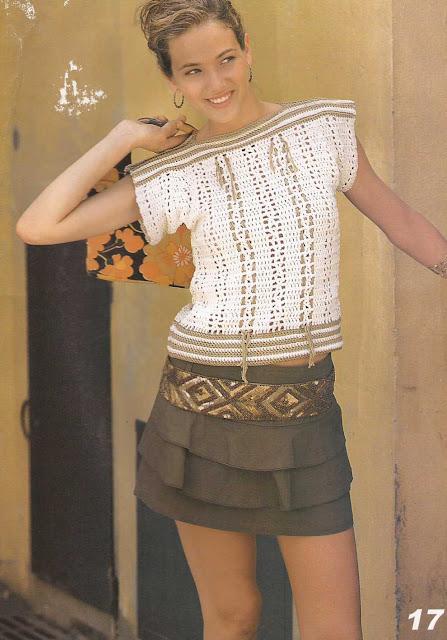 Patrón #876: Jersey Beige a Crochet