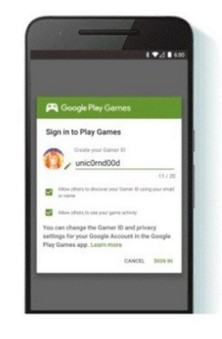 Google Gamer ID disponibile su android
