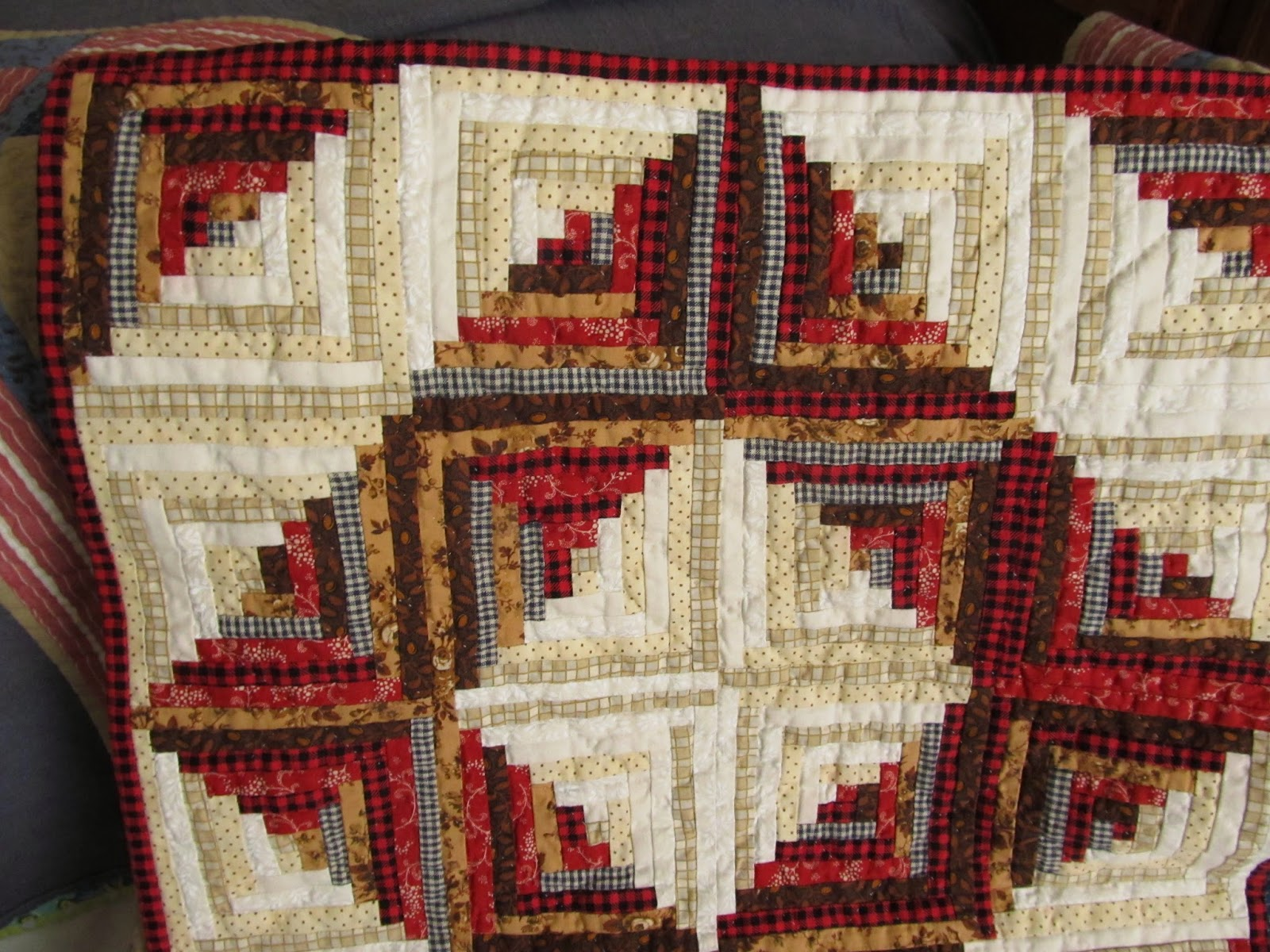 Crazy Victoriana crazy for quilts: Barn Raising Red quilt