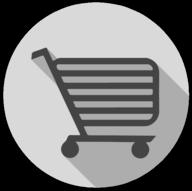 cart whiteout icon
