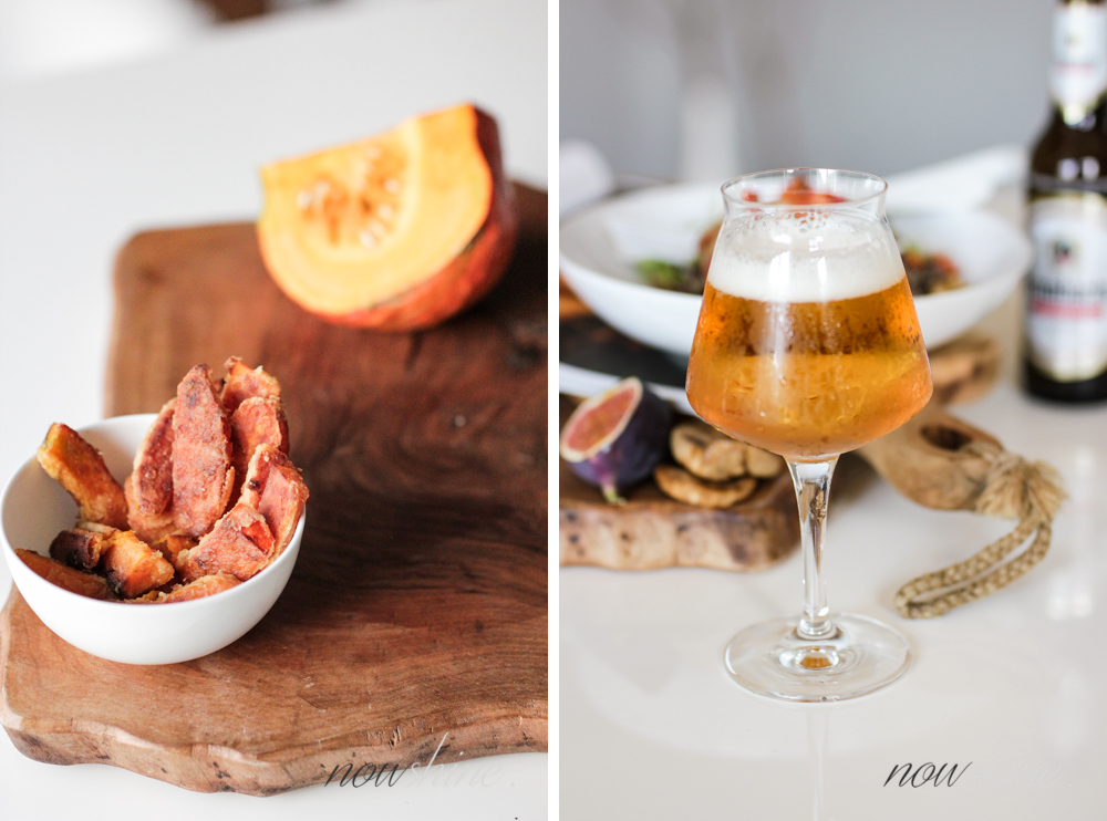 Herbstliches Quinoa Bowl Rezept passend zu Krombacher Alkoholfrei