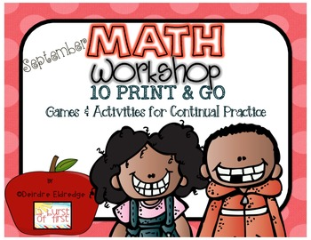 http://www.teacherspayteachers.com/Product/Math-Workshop-September-10-Print-and-Go-Activities-and-Games-794233