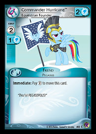 My Little Pony Commander Hurricane, Equestrian Founder Marks in Time CCG Card