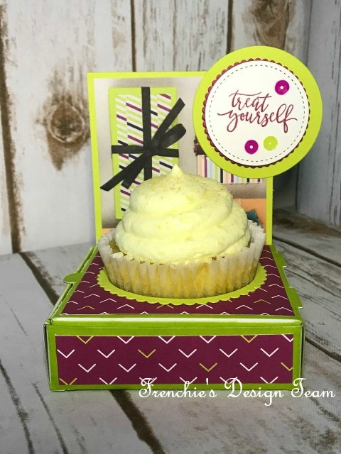 Pizza Box for Cupcake holder, DIY cupcake holder, Picture Perfect Party, Stampin'Up!,